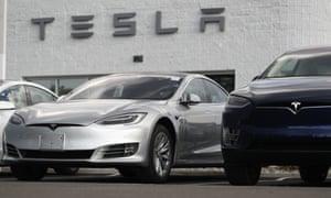 A Tesla Model 3