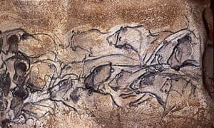 These lions, rhinos and buffaloes heads were depicted in charcoal more than 30,000 years ago. Part of an animal frieze, they are among the oldest known paintings in the world, in the Chauvet cave in southeast France.